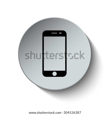Smart phone icon. Mobile phone icon. Telephone icon. Button. Vector Illustration - stock vector