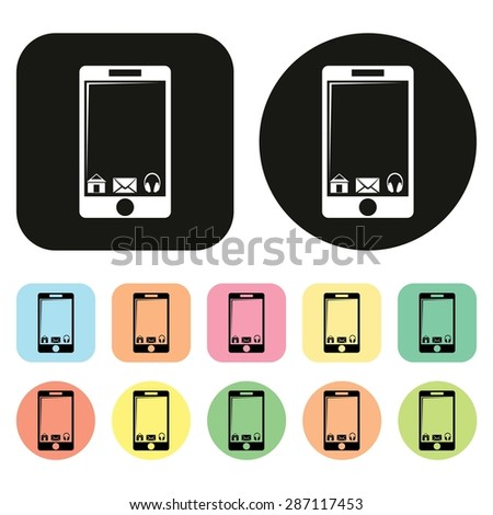 Smart phone icon. Mobile phone icon. Vector - stock vector