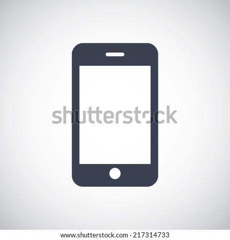 Smart phone symbol icon. Vector pictogram. Simple flat metro design style. esp10 - stock vector