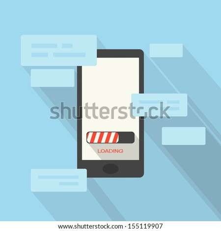smart phone, vector - stock vector