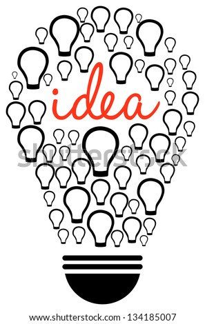 Smart Thinking Concept On White Background - stock vector