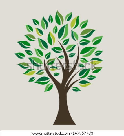 Smart Tree Vector - stock vector