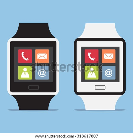 Smart watch interface, Vector Illustration EPS 10. - stock vector