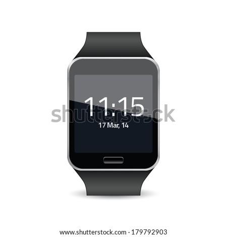 Smart watch vector illustration - stock vector