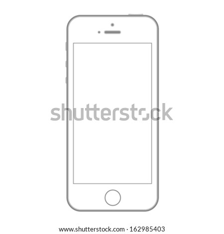 Smartphone abstract outline vector design template. Mobile Phone mockup. - stock vector