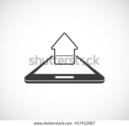smartphone and house concept icon - stock vector