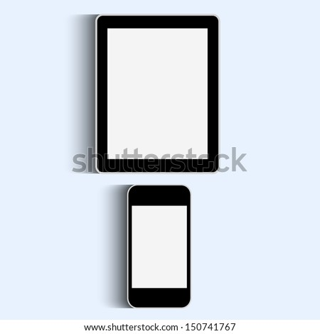 Smartphone and Tablet. Vector set - stock vector
