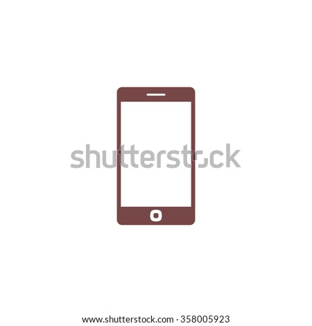 Smartphone. Colorful vector icon. Simple retro color modern illustration pictogram. Collection concept symbol for infographic project and logo - stock vector