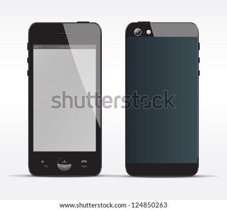Smartphone concept front and Back - stock vector