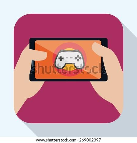 Smartphone design over white background, vector illustration. - stock vector