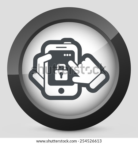 Smartphone icon. Security Lock. - stock vector
