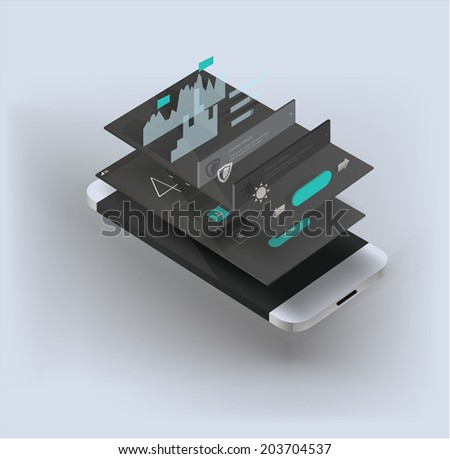 smartphone illustration - stock vector