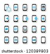 Smartphone / mobile or cell phone icons set - stock vector