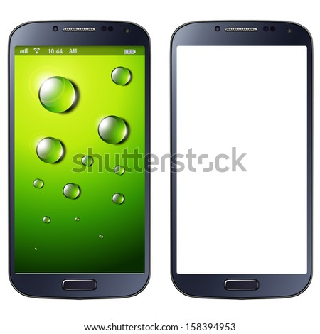 Smartphone, mobile phone isolated, vector illustration. - stock vector