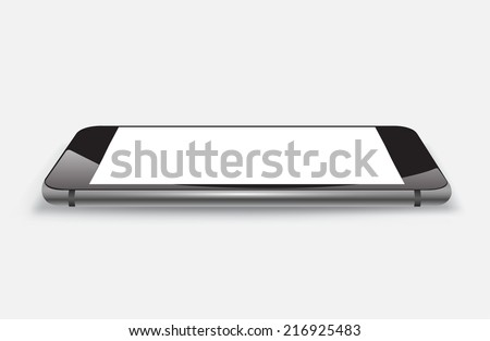 Smartphone  mockup realistic vector file. Can use for object printing and website. Game or application mockup. - stock vector