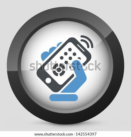 Smartphone remote control - stock vector