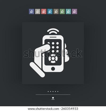 Smartphone remote control icon - stock vector