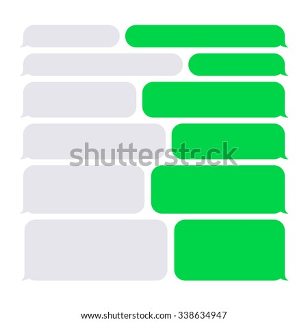 Smartphone SMS Chat Bubbles Set. Vector - stock vector