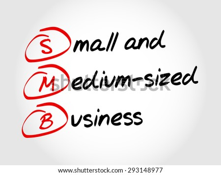 SMB - Small and Medium-Sized Business, acronym business concept - stock vector