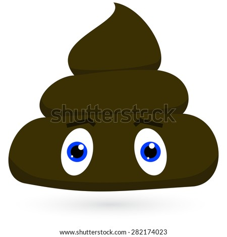 Smelly Pile of Poop Cartoon Character Vector  - stock vector
