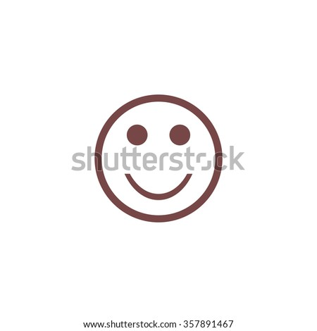 Smile. Colorful vector icon. Simple retro color modern illustration pictogram. Collection concept symbol for infographic project and logo - stock vector