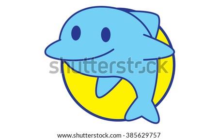 Smile Dolphin - stock vector