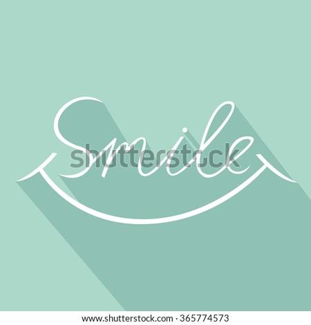 Smile font design, vector illustration, graphic, background - stock vector