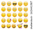 Smile Icons Set - Isolated On White Background - Vector Illustration, Graphic Design Editable For Your Design - stock vector