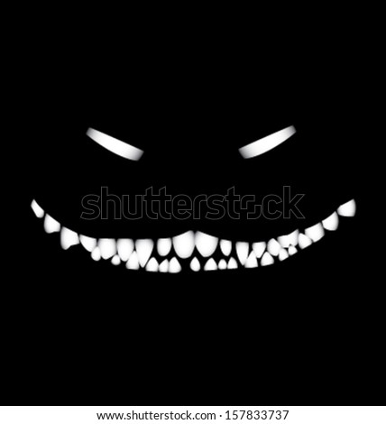 smile of monster vector - stock vector