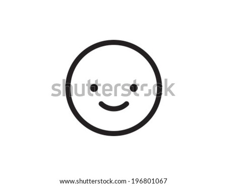 Smile Outline Icon Symbol - stock vector