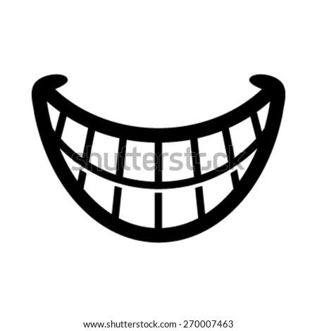 Smile Vector Icon - stock vector