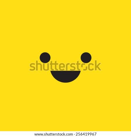 Smile Vector Icon Symbol Pictogram - stock vector