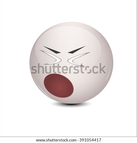 Smiley emotion feels bad - stock vector