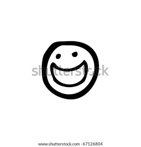 smiley face cartoon - stock vector