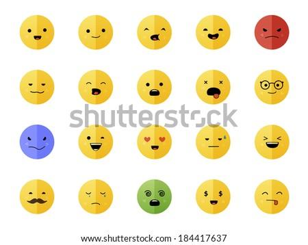Smiley faces - stock vector