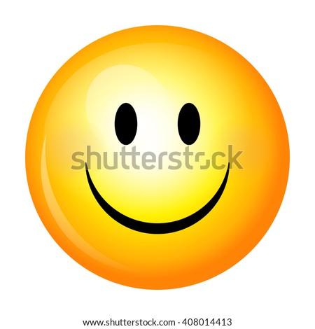 Smiley. Vector happy face - stock vector