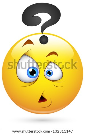 Smiley Vector Illustration - Puzzled Face - stock vector