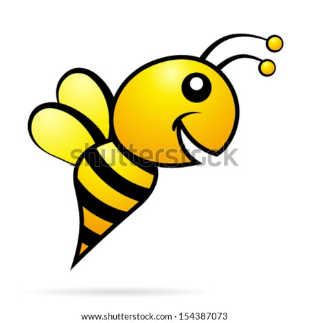 smiling bee - icon - stock vector