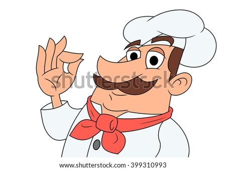 Smiling chef illustration - stock vector