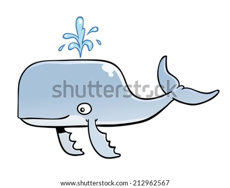 Smiling Whale - stock vector