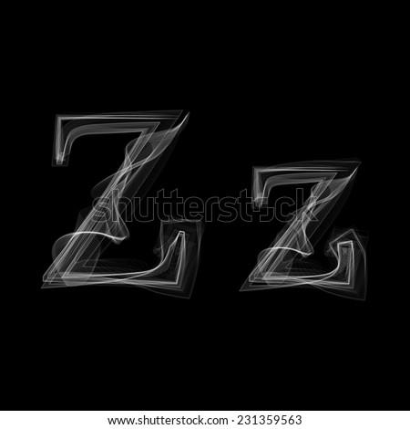Smoke font. Letter Z. Vector illustration alphabet - stock vector
