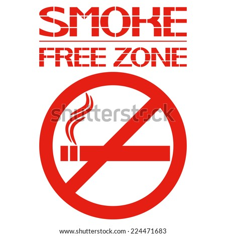 Smoke free zone. Safety prohibition of hazardous consumer products. Vector illustration. - stock vector