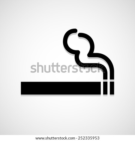 smoke icon great for any use. Vector EPS10. - stock vector