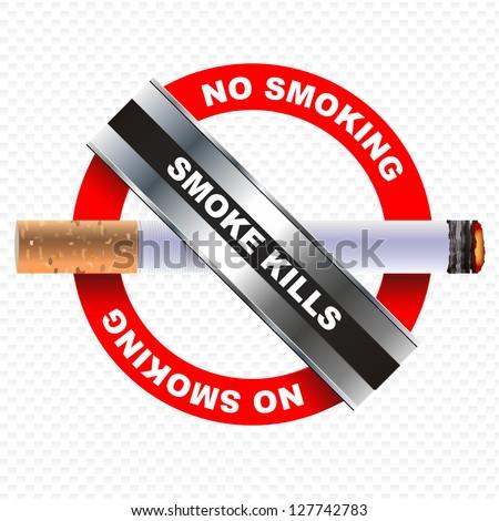 smoke kills concept, no smoking. vector design - stock vector