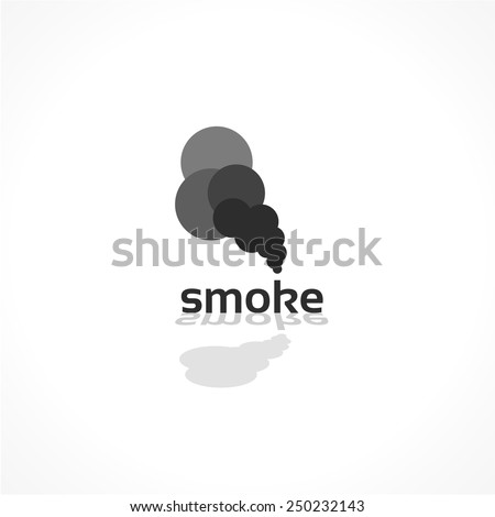 smoke vector icon, abstract background design - stock vector