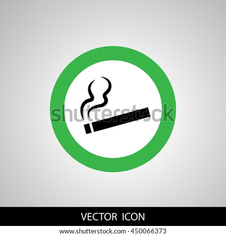smoking area - stock vector