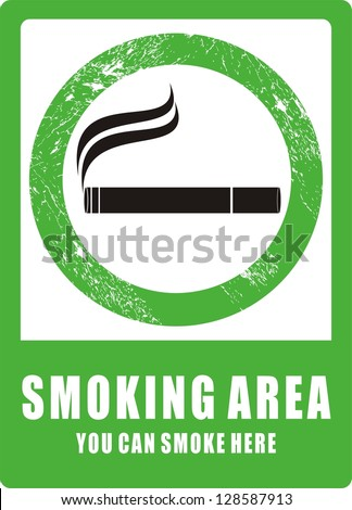 Smoking Area, icon vector - stock vector