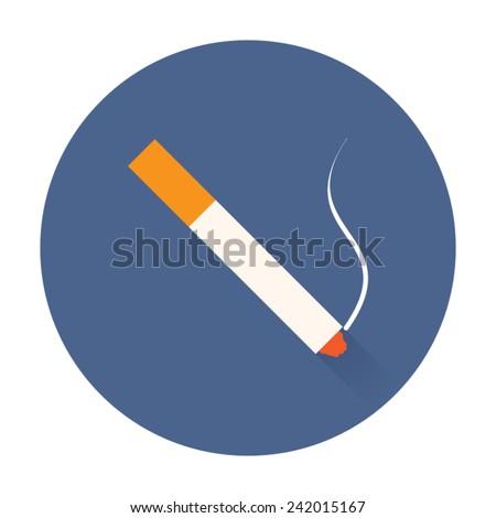 smoking cigarette icon - stock vector
