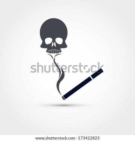 Smoking kills, vector illustration - stock vector