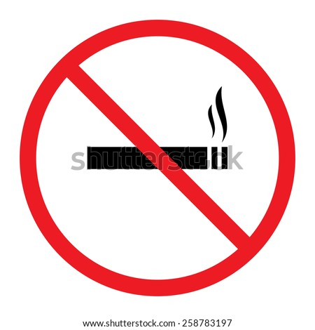 Smoking Prohibition Sign - stock vector